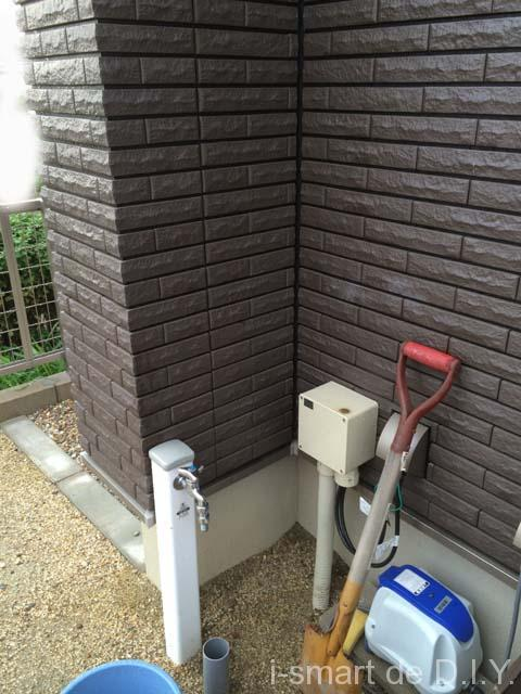 袖壁 立水栓
