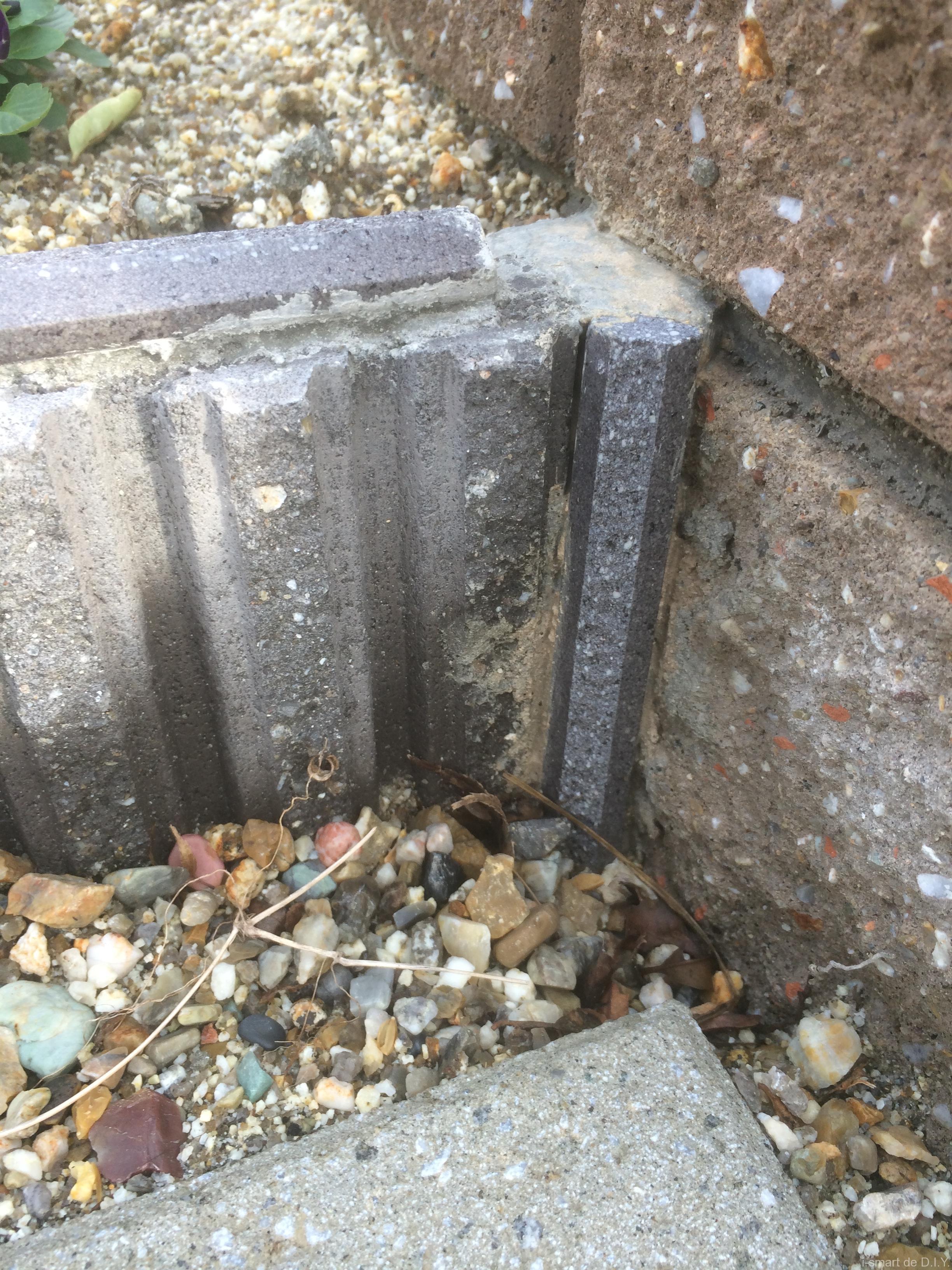 モルタル ブロック 隙間埋め