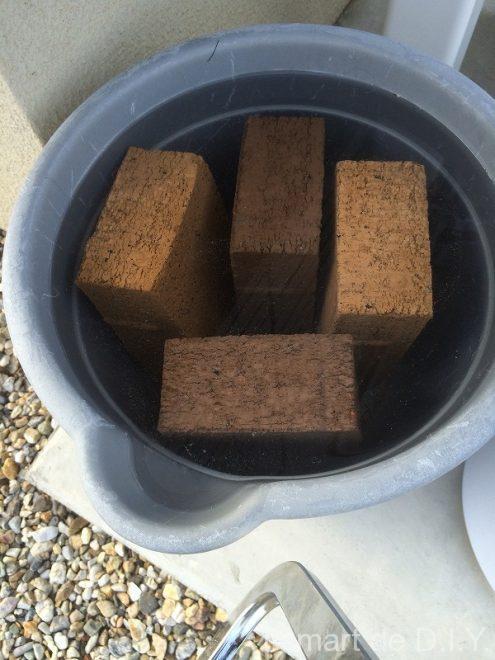 立水栓 モルタル レンガ