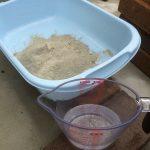 初心者がレンガを積んで野菜洗い場を作ってみた(立水栓パンDIYその2)