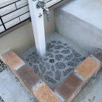 (立水栓パンDIY)初心者が野菜洗い場を作ってみました。その3