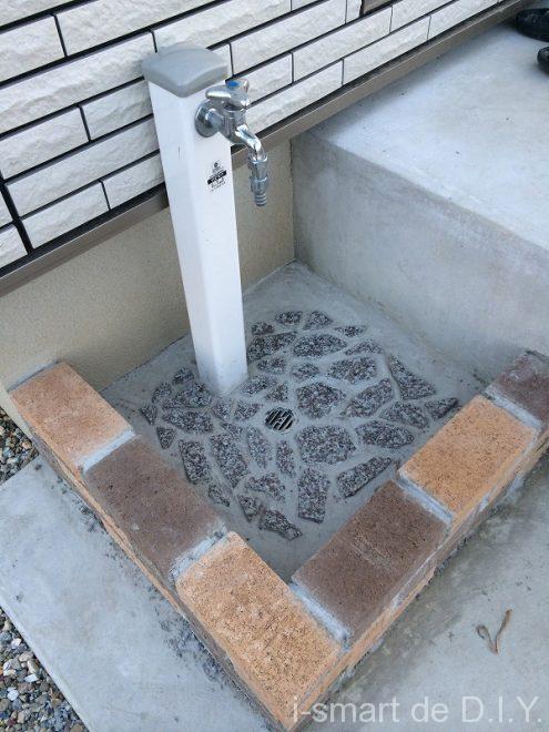 立水栓 レンガ
