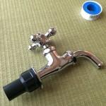 「3-5蛇口、配管を接着編」標準の立水栓をDIYで改造しよう!