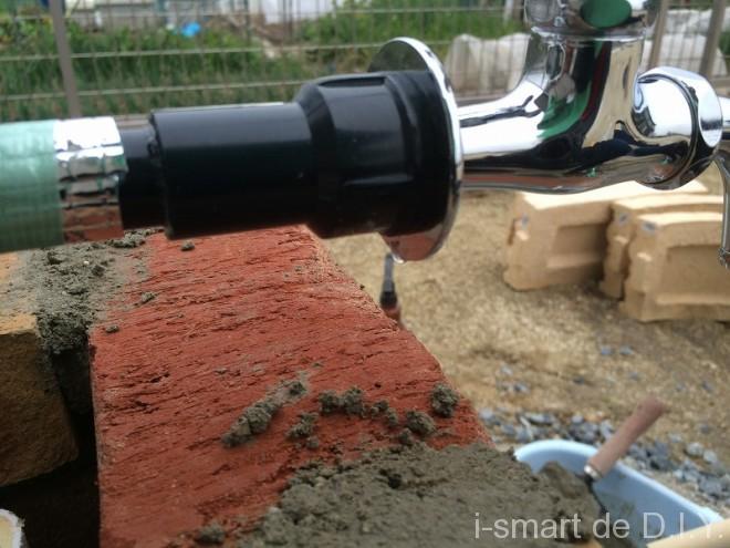 立水栓DIY 配管接続
