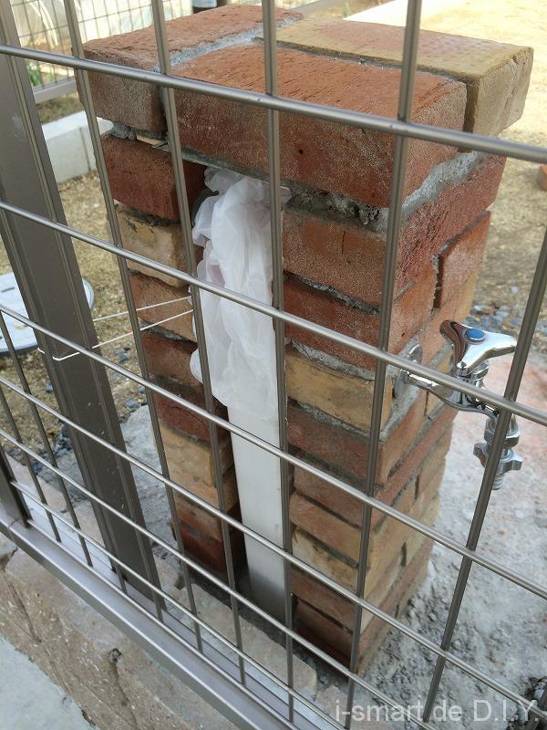 立水栓DIY レンガカット