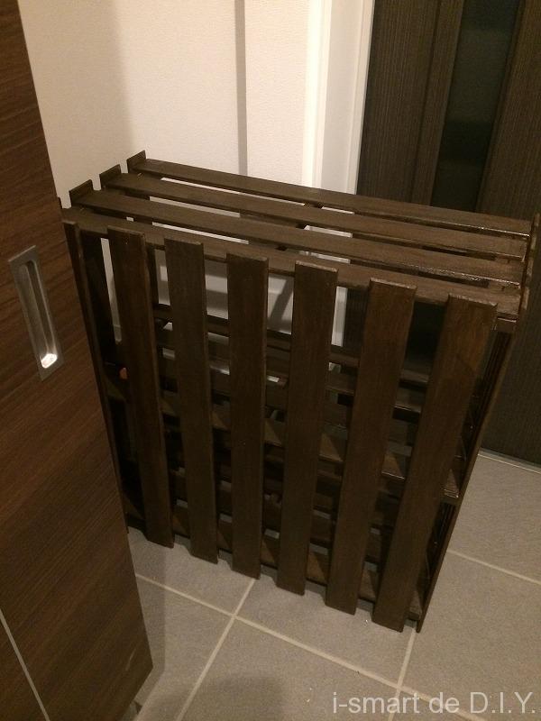 すのこ 棚 DIY 塗装保護