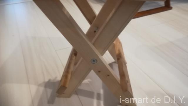 折りたたみ椅子 足