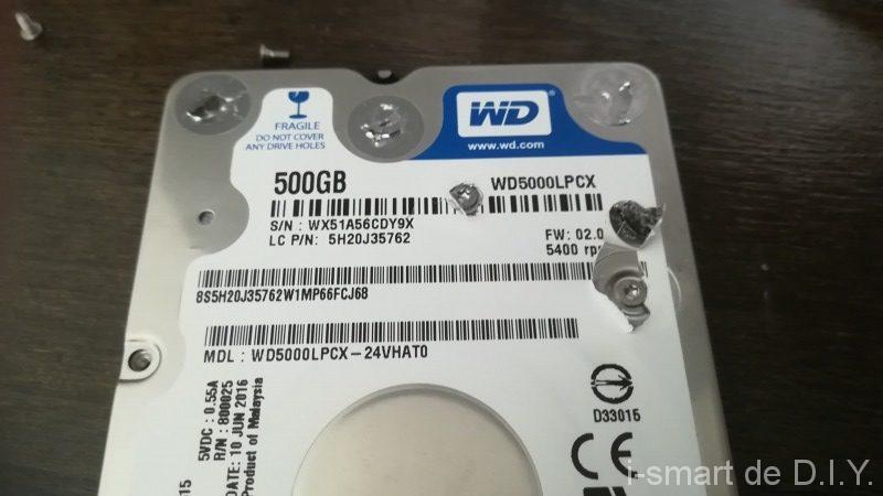HDD 取り出し 分解