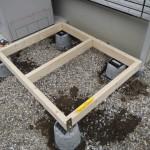 1から作るガーデンシェッド(物置小屋)DIY!その2基礎、壁作成編