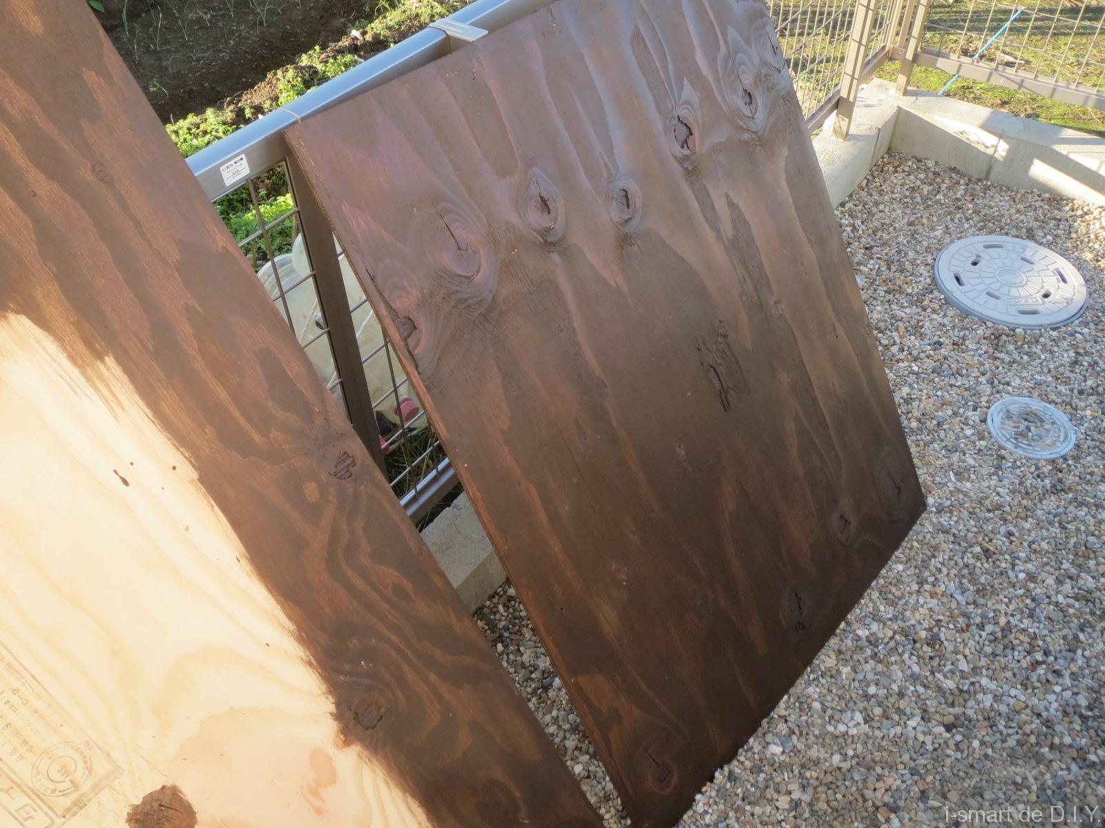 ガーデンシェッド 物置 DIY 床板 塗装