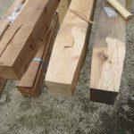 ウッドデッキをDIYで作ろう!9 束柱のカットとテーパー加工