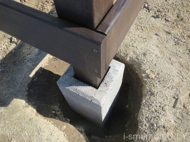 ウッドデッキ DIY 束柱