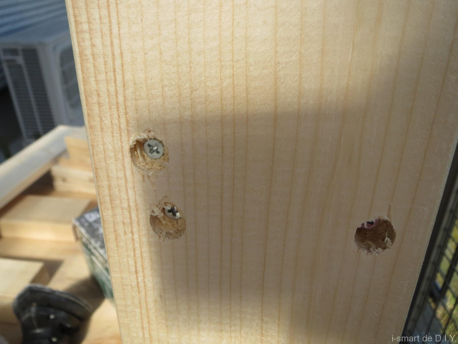 木工DIY ブックシェルフ ビス