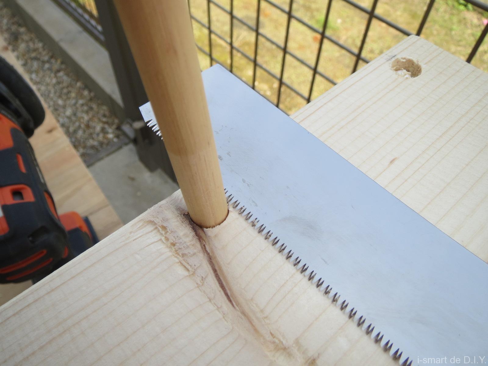 木工DIY ブックシェルフ 隠し釘
