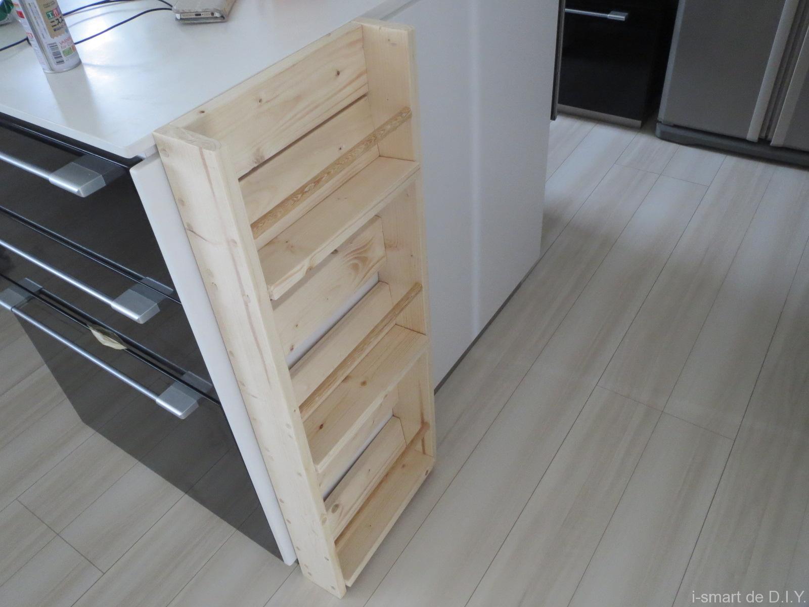 キッチン横 ブックシェルフ