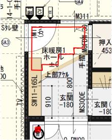 玄関 床暖房