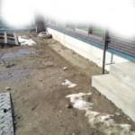 床養生と住設が設置されました。