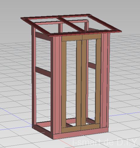 ガーデンシェッド 物置 小屋 DIY 骨組み