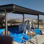 カーポートの耐震工事が実施されました。